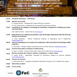 "Upcoming event: ""CHALLENGES AND OPPORTUNITIES IN WELDING PROCESSES IN THE MARINE AREA"""